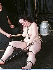 Crying slave in medieval bdsm and electro torments from The Pain Files