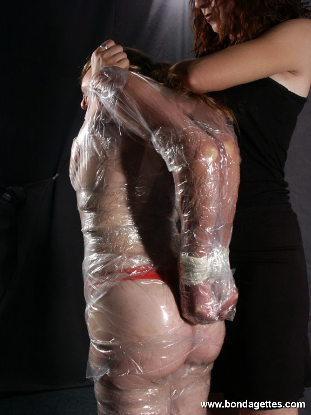 Sensory deprivation wrap femdom