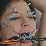 Polynese slave Mei Maras cattleprod BDSM and Facial Needle Torture