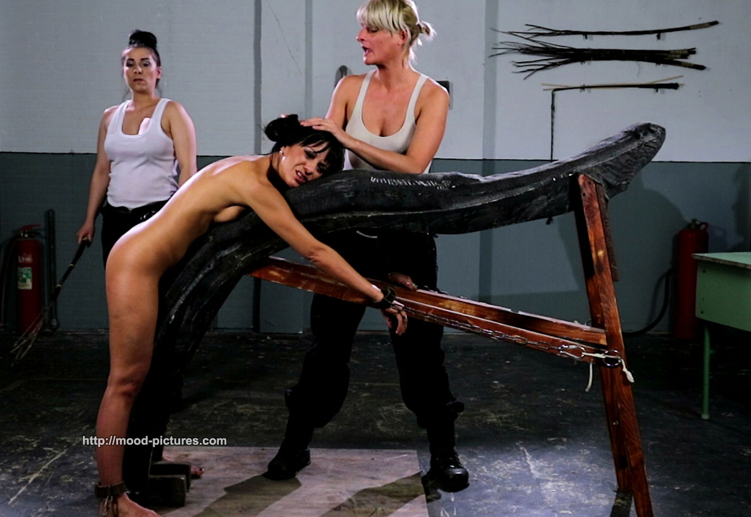 Caged man slave to feet 6