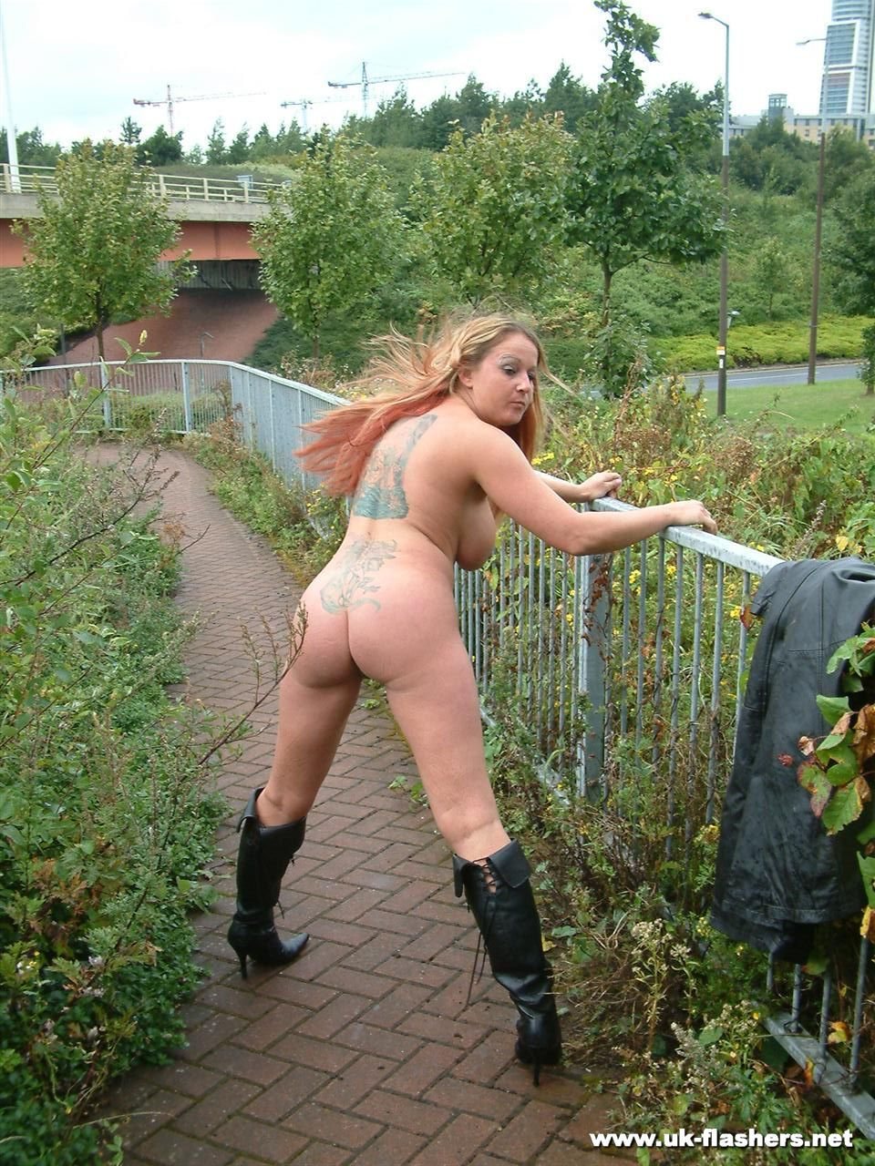 Busty milf ginas public nudity and english flashers outdoors 3